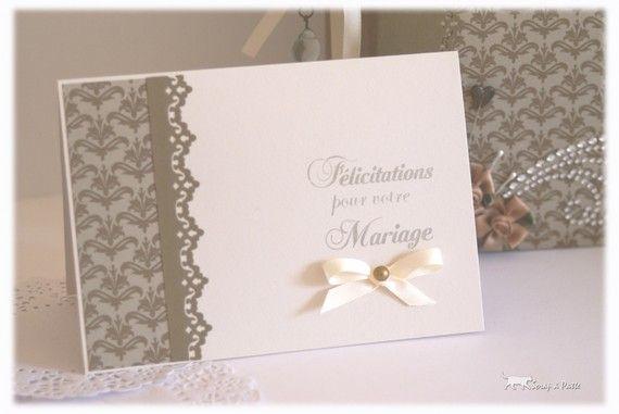 carte de mariage felicitation Carte Felicitation Mariage vintage | Carte félicitations mariage