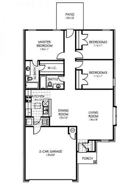 3 Bedrooms 2 0 Bath S 1332 Sqft 148 599 Home Creations Floor Plan Layout Building A House Floor Plans