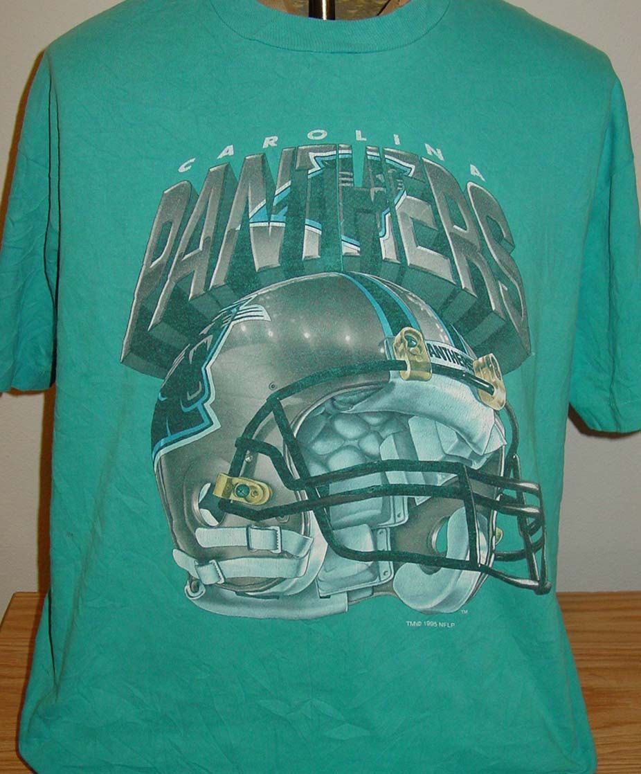 vintage 1994 Carolina Panther NFL football t shirt size XL with hole by  vintagerhino247 on Etsy 607ad2379