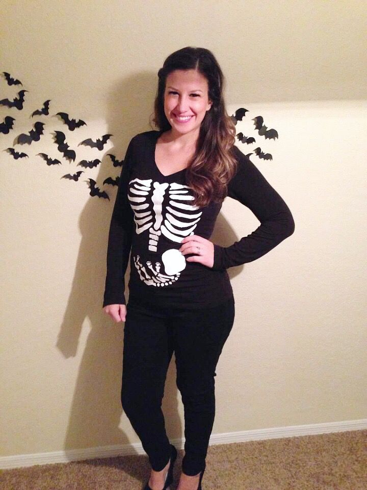 Baby reveal Halloween skeleton costume