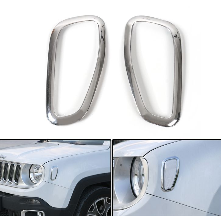 Mad Hornets Abs Chrome Front Singal Light Lamp Cover Frame Trims