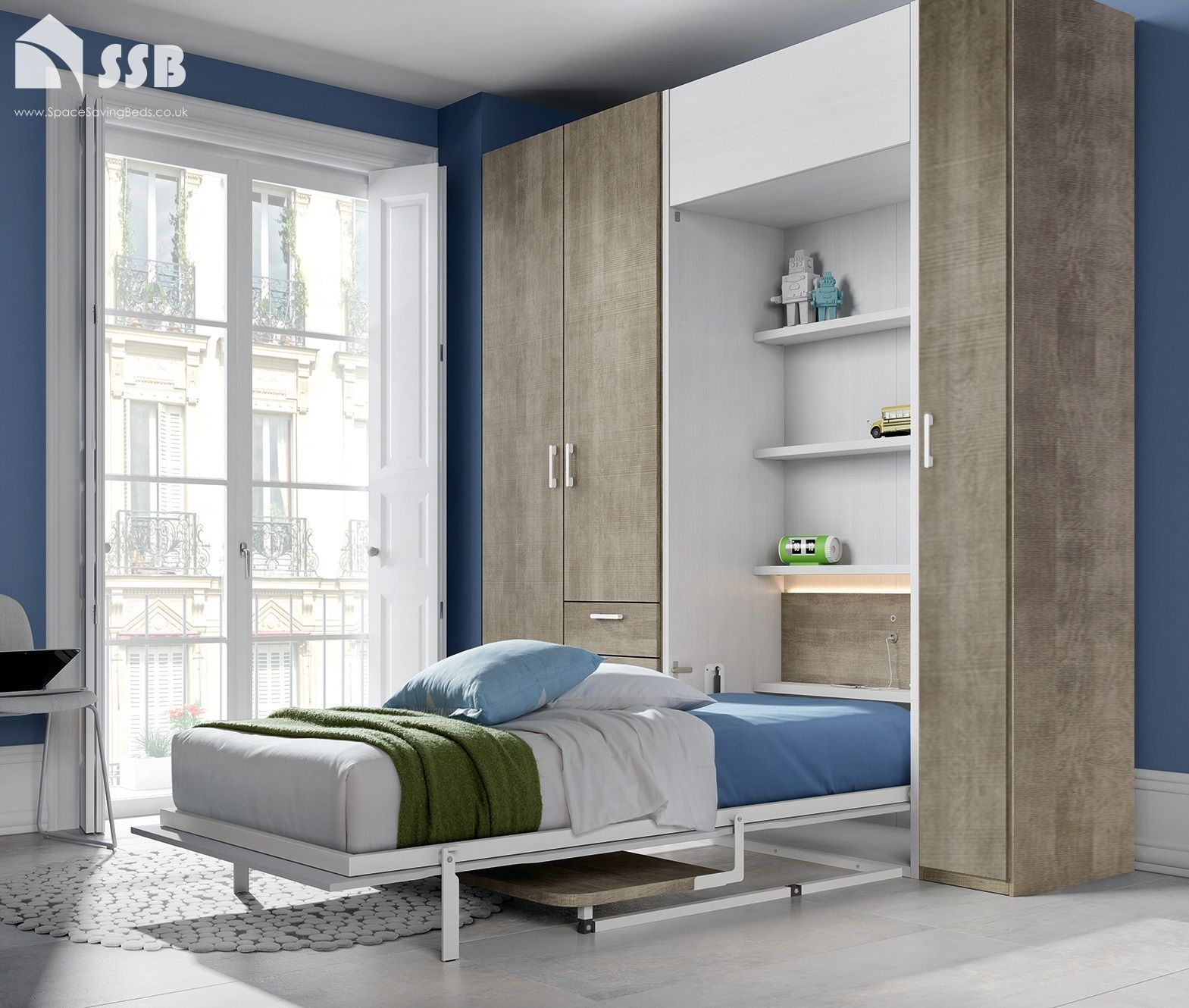 Pin by Wulunzun on Wall Bed Side tables bedroom, Home