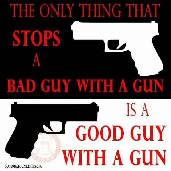 Good Guys With Guns Stop Bad Guys With Guns  Second Amendment