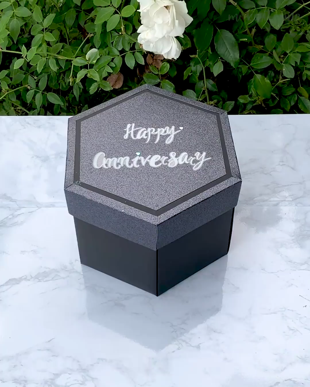 Anniversary Surprise Box 💙 . Free home delivery is available to wordwide. #explosionbox #lovingcrafts #giftbox#boxofluv #lovebox #kinderbox #familytime #cadeaupersonnalise #ideecadeau