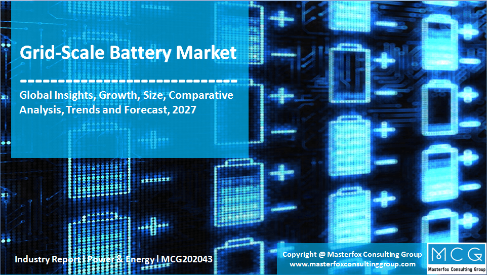 Grid Scale Battery Market Trends Opportunity Forecast 2027 Masterfox Consulting Group Mcg In 2020 Renewable Energy Projects Marketing Trends Grid