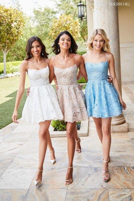 Sherri Hill 52512 Short Lace Prom Dress