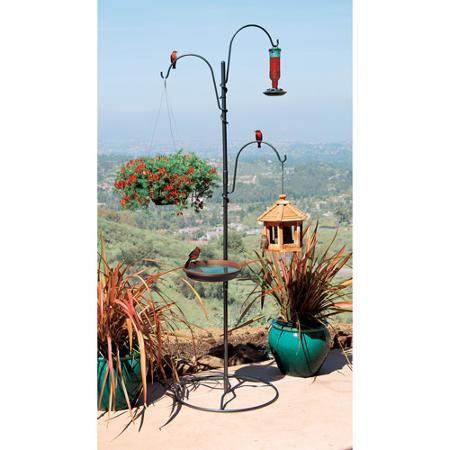 Patio Amp Garden Bird Feeder Hangers Bird Feeder Poles