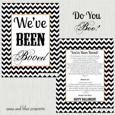 anna and blue paperie Free Printable We\u0027ve Been Booed - Halloween - free halloween decorations printable