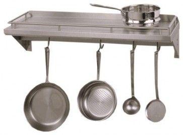 Cucina Mensola Grande Shelf with Pot Rack - contemporary - pot racks - other metro - stainlesssteelstore.com