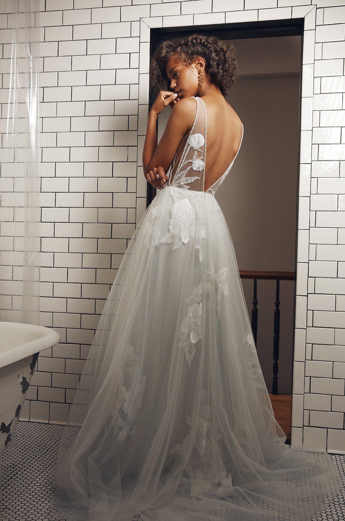 Floravere G O Keeffe Dove Grey Ball Gown Wedding Dress