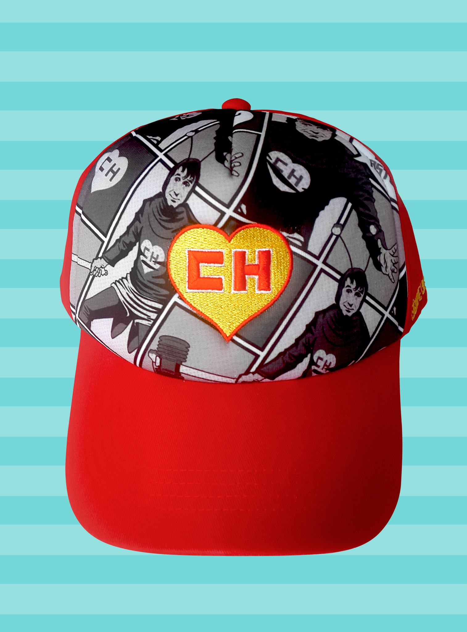 Gorra para adultos con Chapulín Colorado en estilo cómic sublimado en  blanco y negro Baseball cap for adults with comic-style Chapulin Colorano  on black and ... 61c8b254d7e