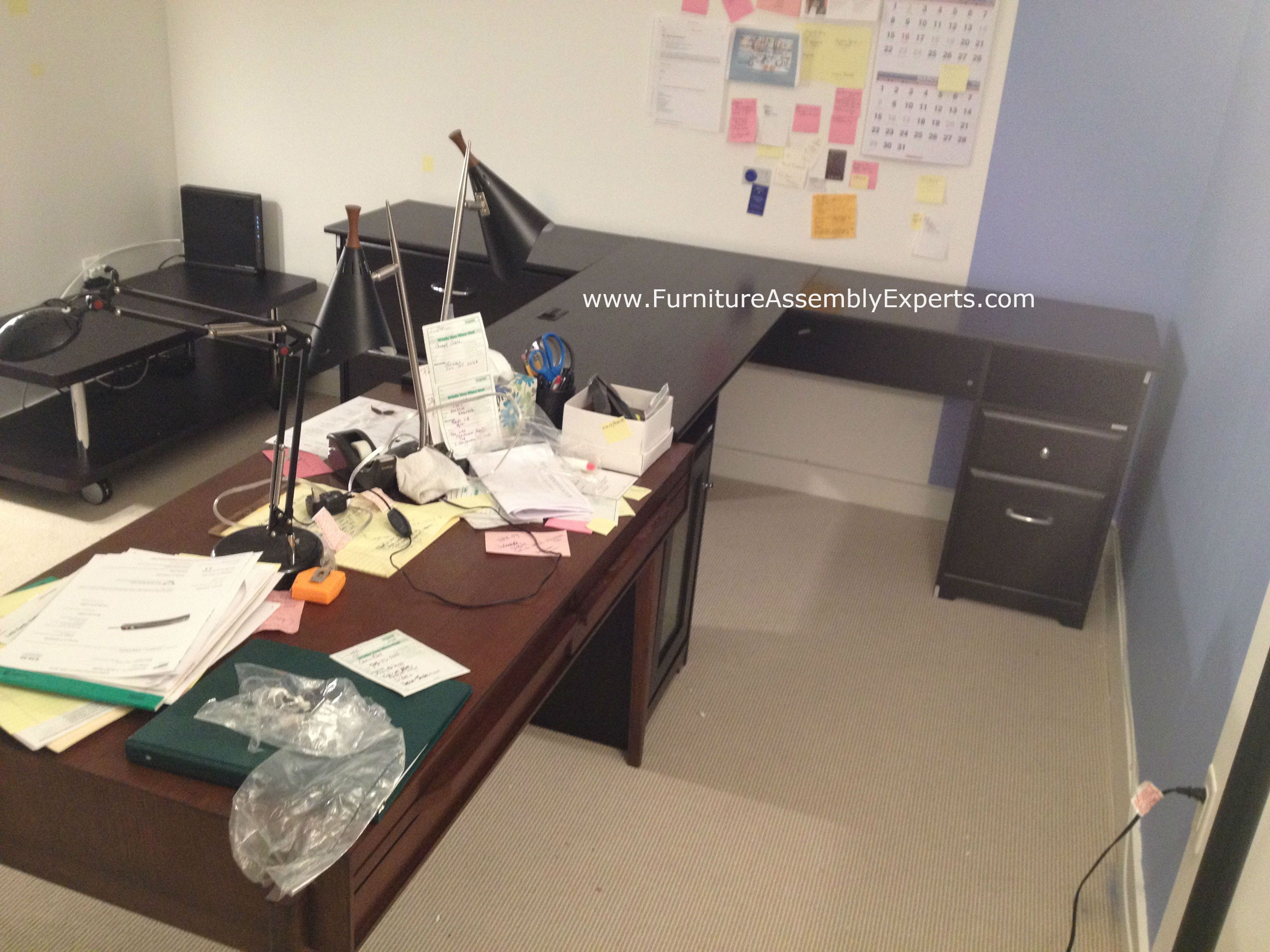 assembled office desks. Staples L Shaped Office Desk Assembled In New York For A Company By Furniture Assembly Experts Desks H