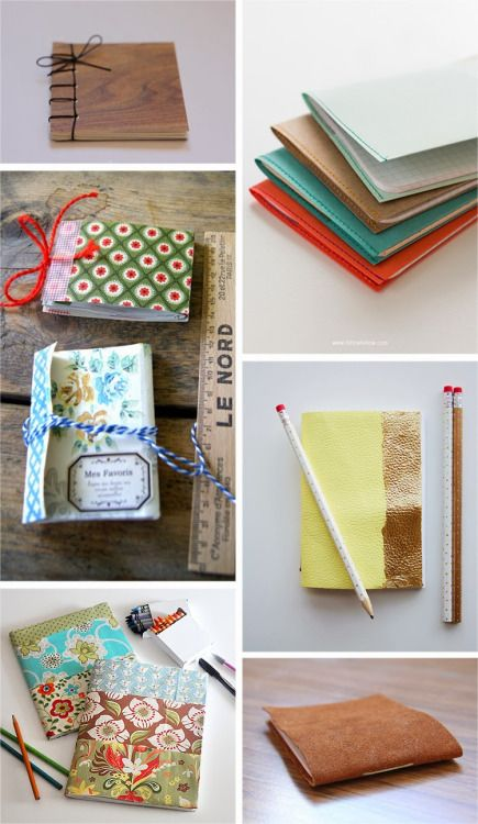 "diychristmascrafts: "" DIY 6 Notebook Tutorials from Ohoh Blog here and for the links to each notebook click on this link. You can also get a stack of any combination of paper you want to use with your own homemade covers and have the copy store use..."