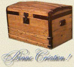 Comment restaurer une malle ancienne en bois trouv e dans le grenier ou chin - Renover malle ancienne ...