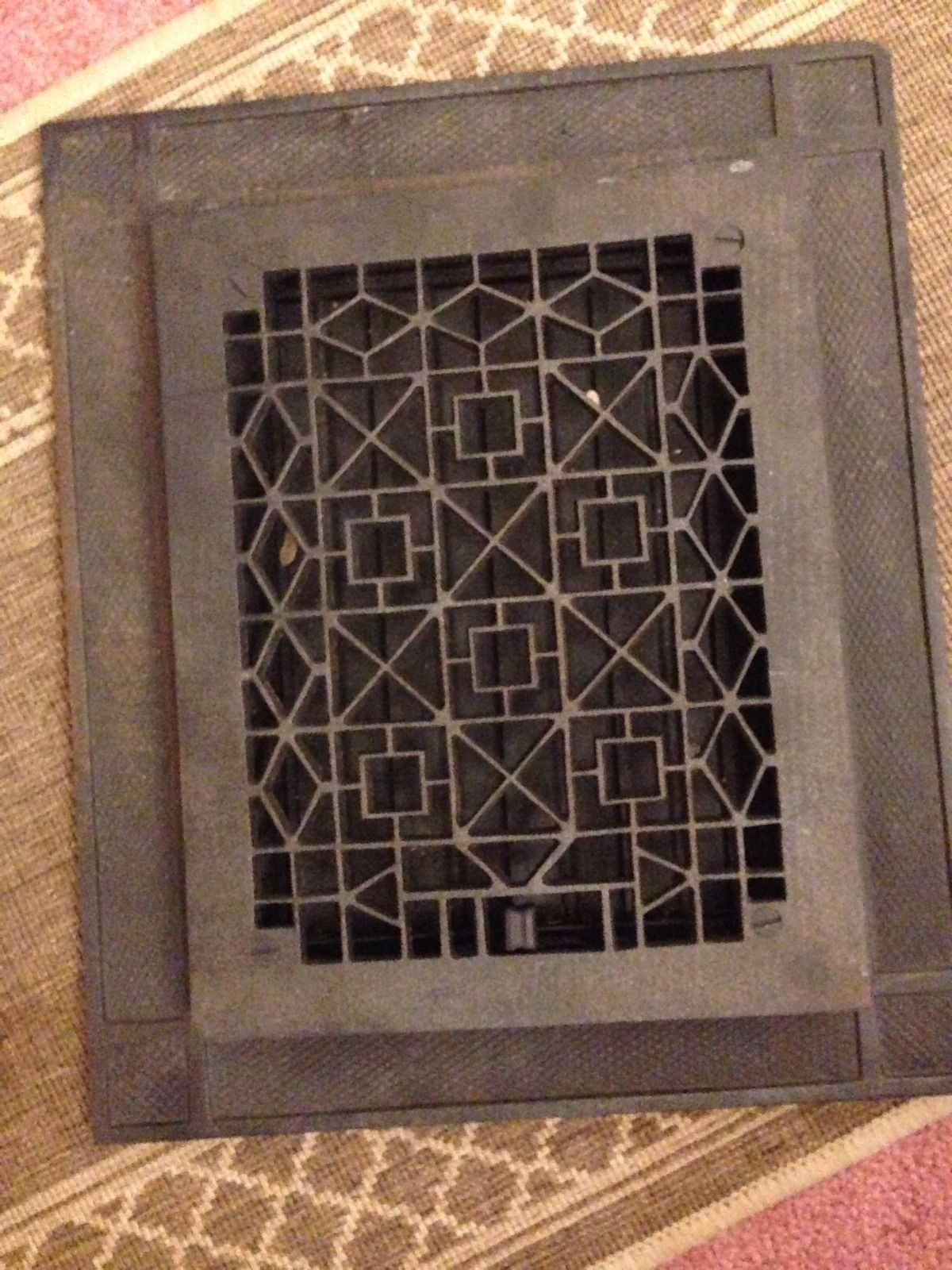 Antique Cast Iron Heating Grate Cover Black Antique Cast Iron Antiques It Cast