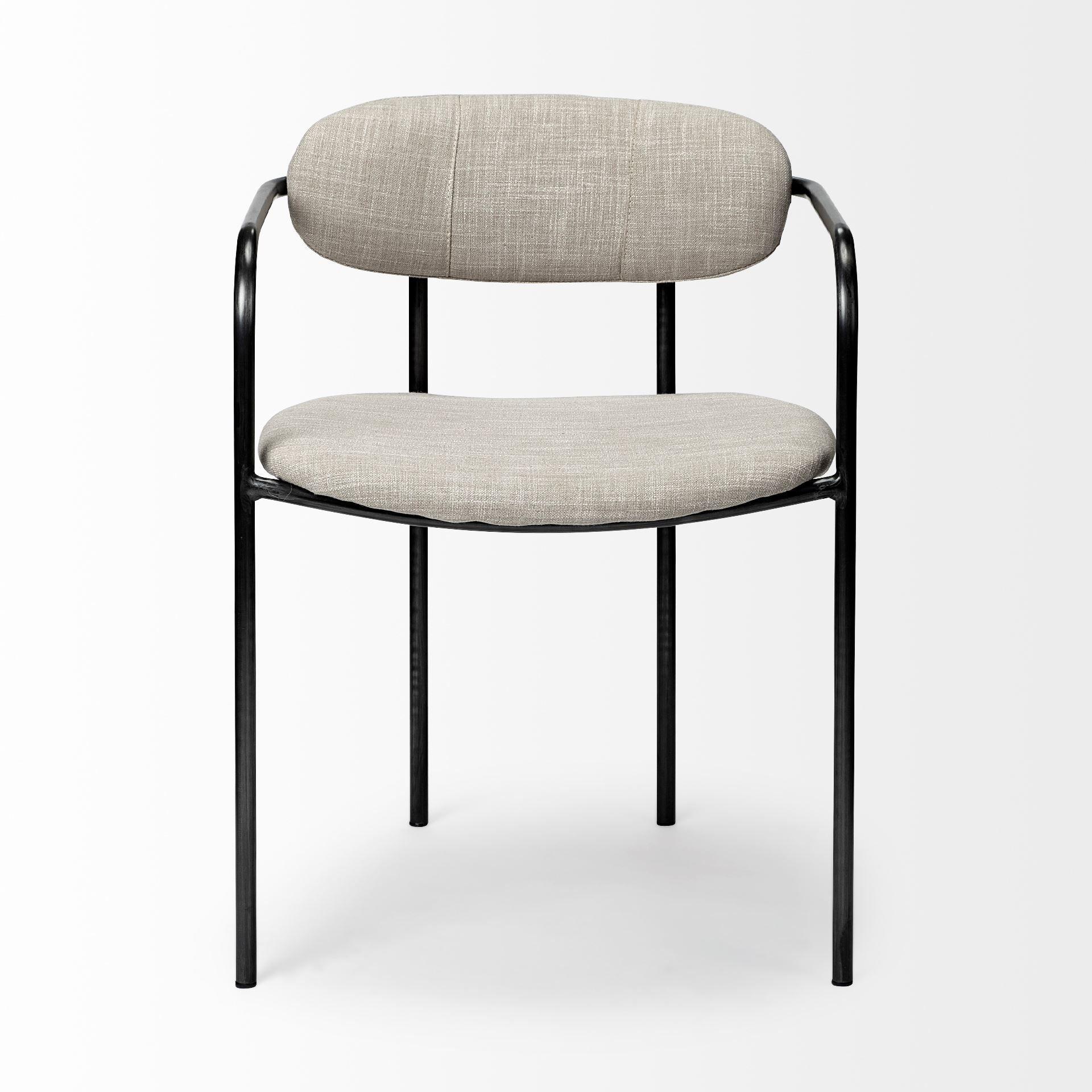 Parker Dining Chair - Beige & Grey