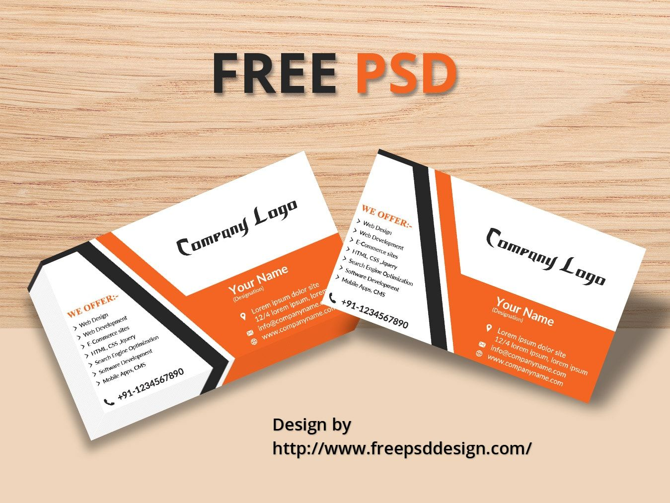 Business Card MOCK-UP Design- Layer Based PSD design for any ...