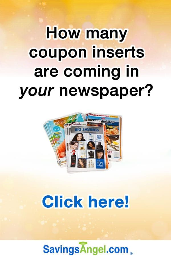 new redplum and smartsource inserts are scheduled to be in the sunday newspaper coupon inserts this sunday there arent many food coupons expected