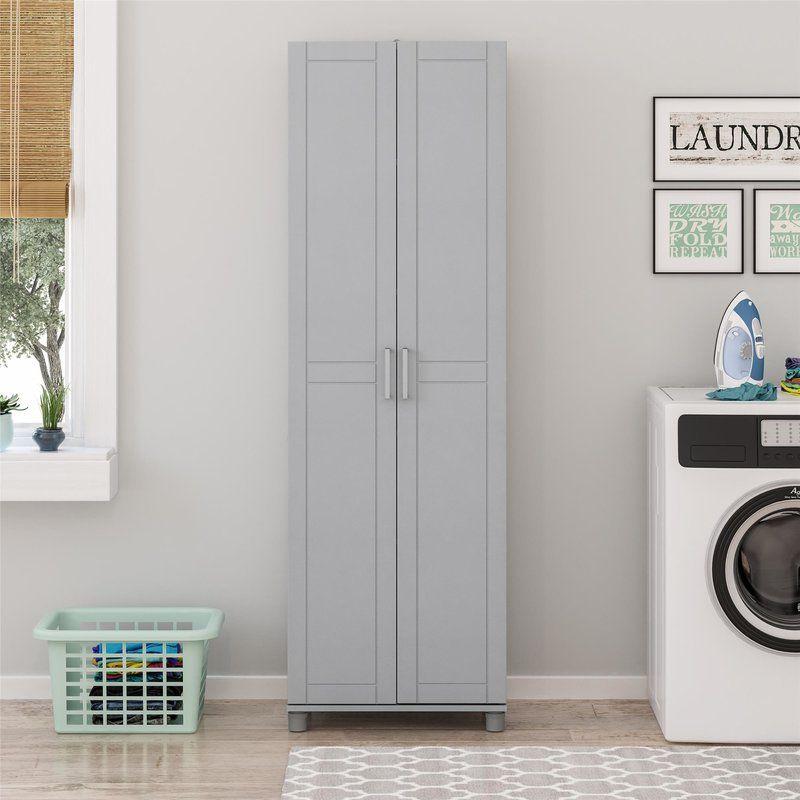 75 H X 24 W X 15 D Storage Cabinet In 2020 Utility Storage Cabinet Laundry Room Storage Storage Cabinet