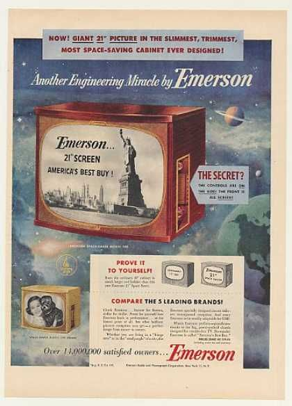 Emerson Space-Saver Model 740 Television (1953)
