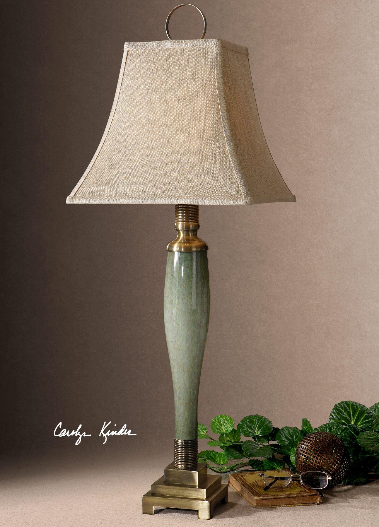 Uttermost Jaida Blue Green Buffet Lamp Buffet Lamps Lamp Uttermost Lighting