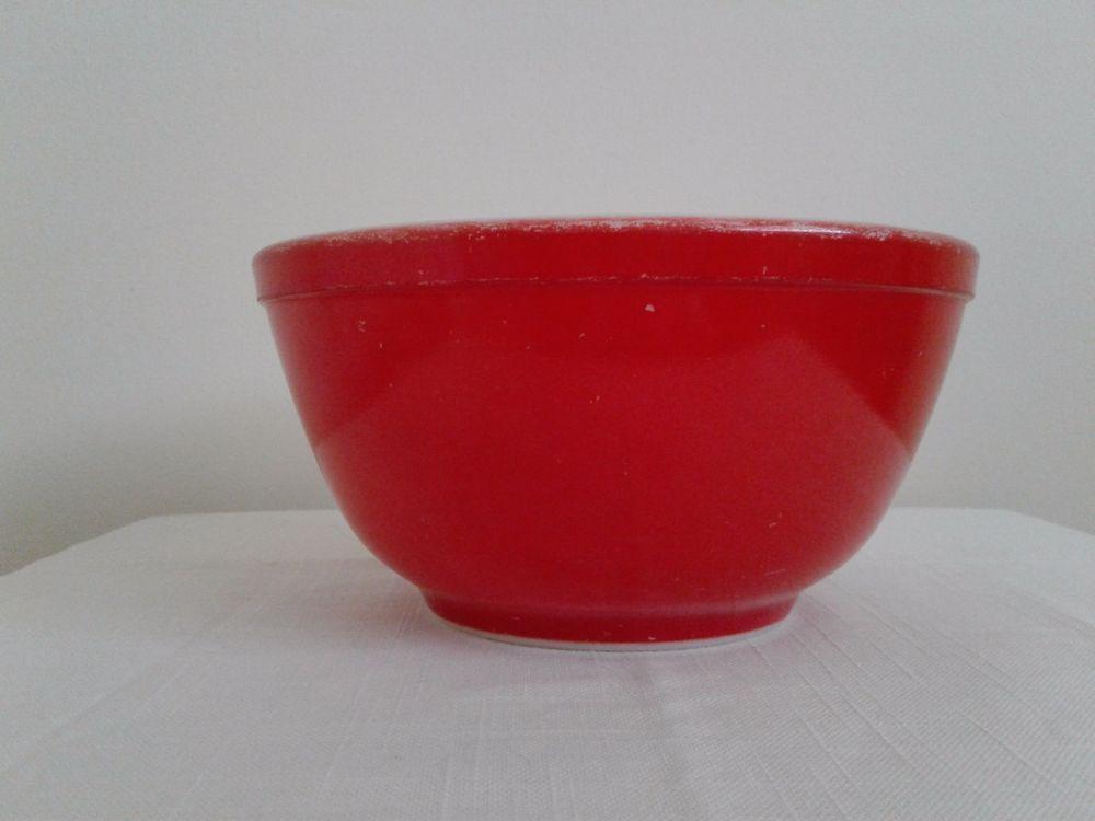 Primary Red Vintage Pyrex Nesting #402 Mixing Bowl 1-1/2 Quart ...