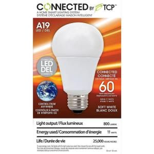 Tcp Connected By Tcp 11 Watt 60w A19 Soft White Led Light Bulb