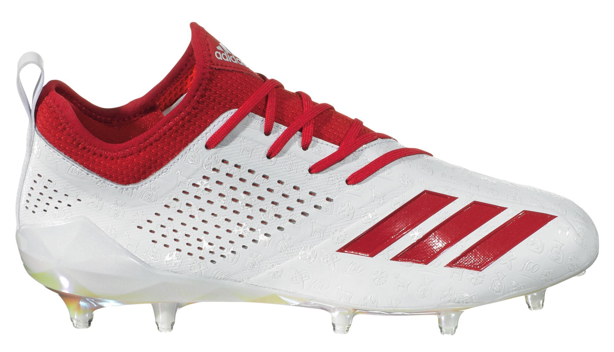 c950b4b83 adidas Men's adiZERO 5-Star 7.0 adiMoji Pack Football Cleats, Size: 17,  White