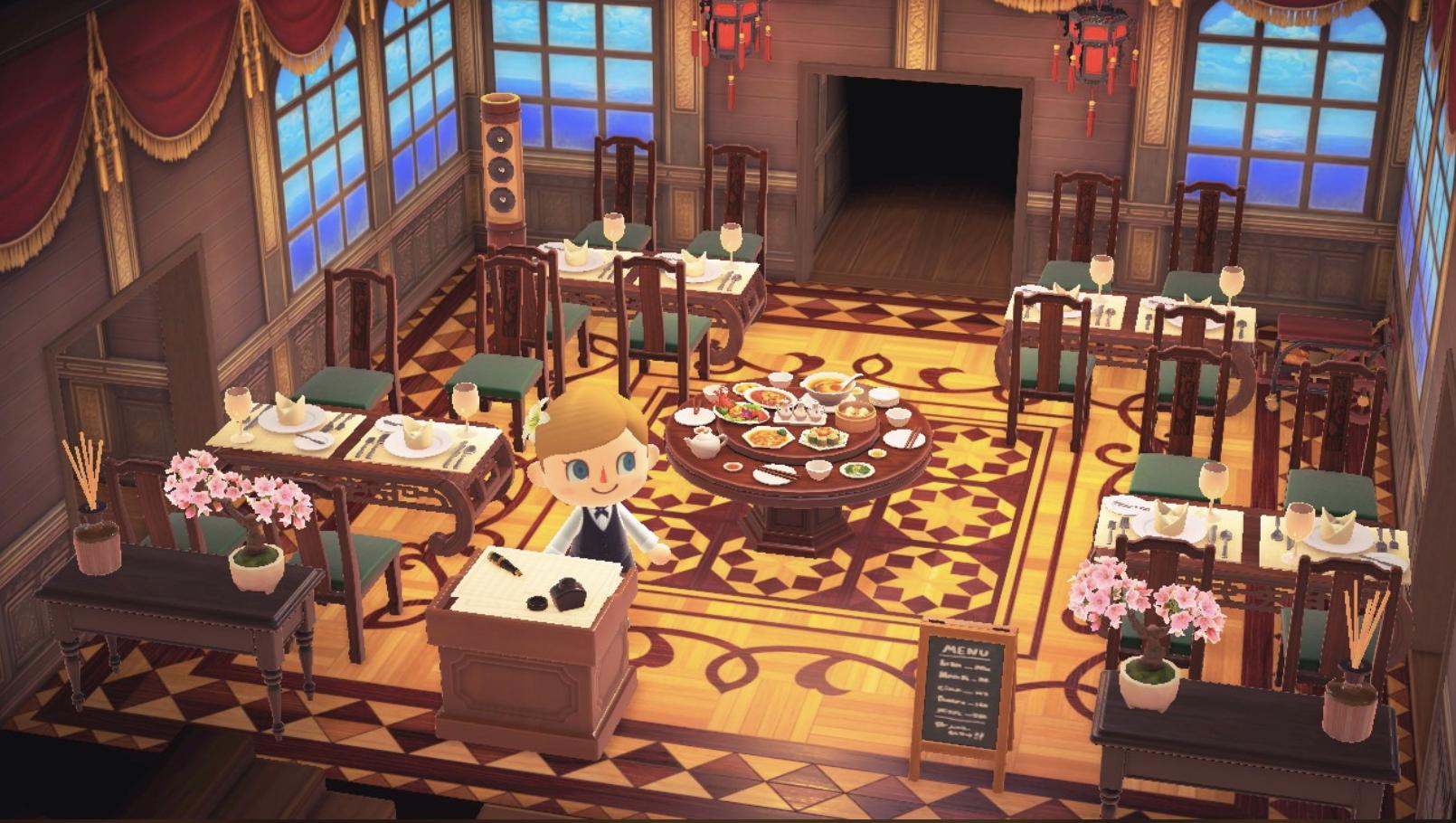 Animal Crossing Restaurant Design Animal Crossing Animals Imperial Design