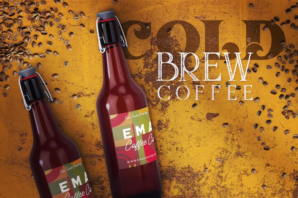 Cold Brew Coffee Bottle Mockup 3 от cruzine on Bottle