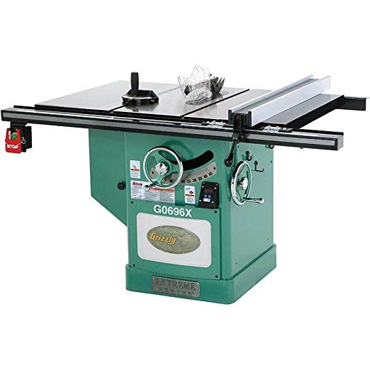 Grizzly G0696x 5 Hp Extreme Series Left Tilt Table Saw 12 Inch Power Table Saws Best Table Saw Small Table Saw Diy Table Saw Tilt Table Table Saw Stand