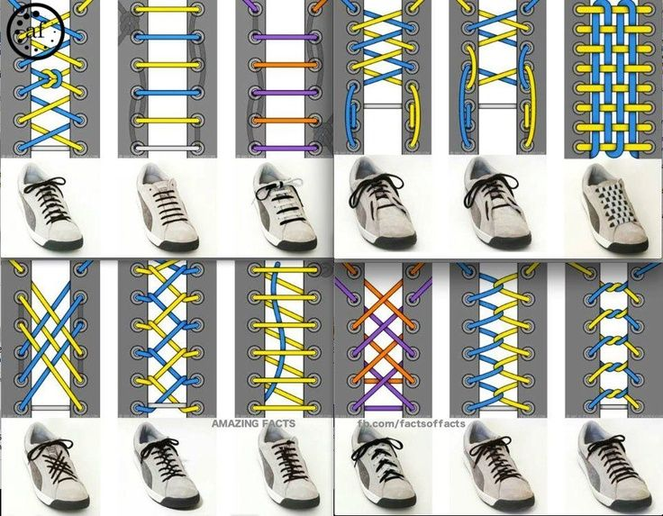Shoelace ties and patterns