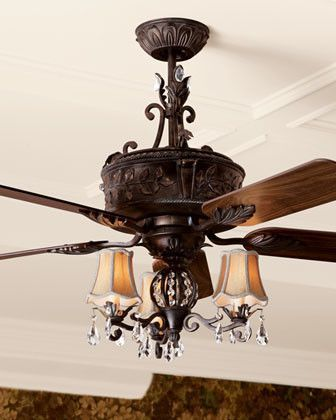 unique ceiling fans with chandeliers | antoinette fan traditional