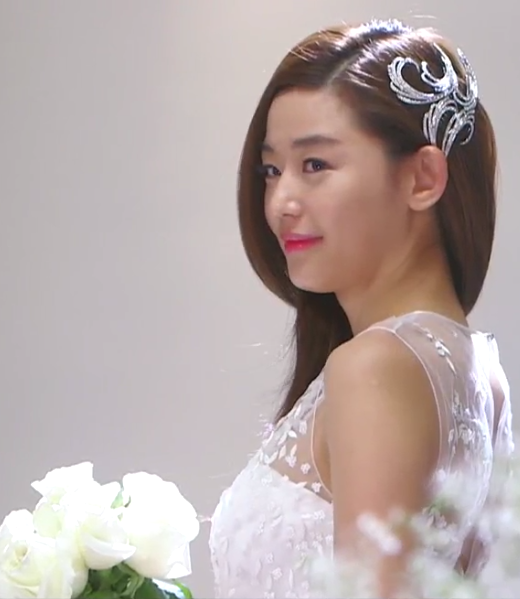 Wedding Korean Star: Cheon Song Yi's Wedding Dress