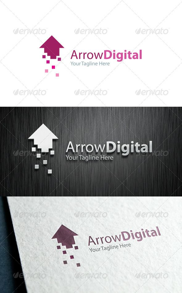 Arrow Digital — Vector EPS #elevation #led • Available here → https://graphicriver.net/item/arrow-digital/6420432?ref=pxcr
