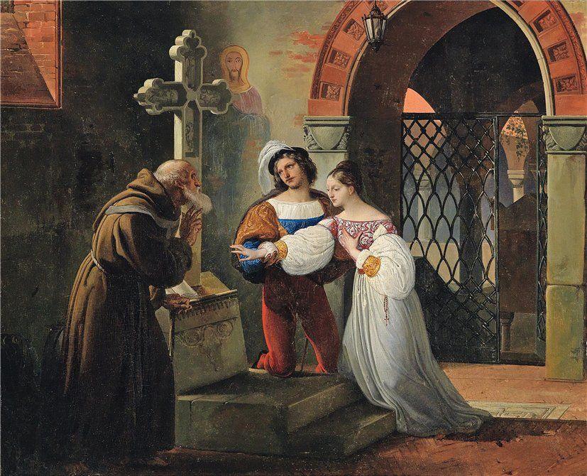 Francesco Hayez 1791 1882 The Marriage Of Romeo And Juliet 1830 Romeo Und Julia Garten Ideen Marchen