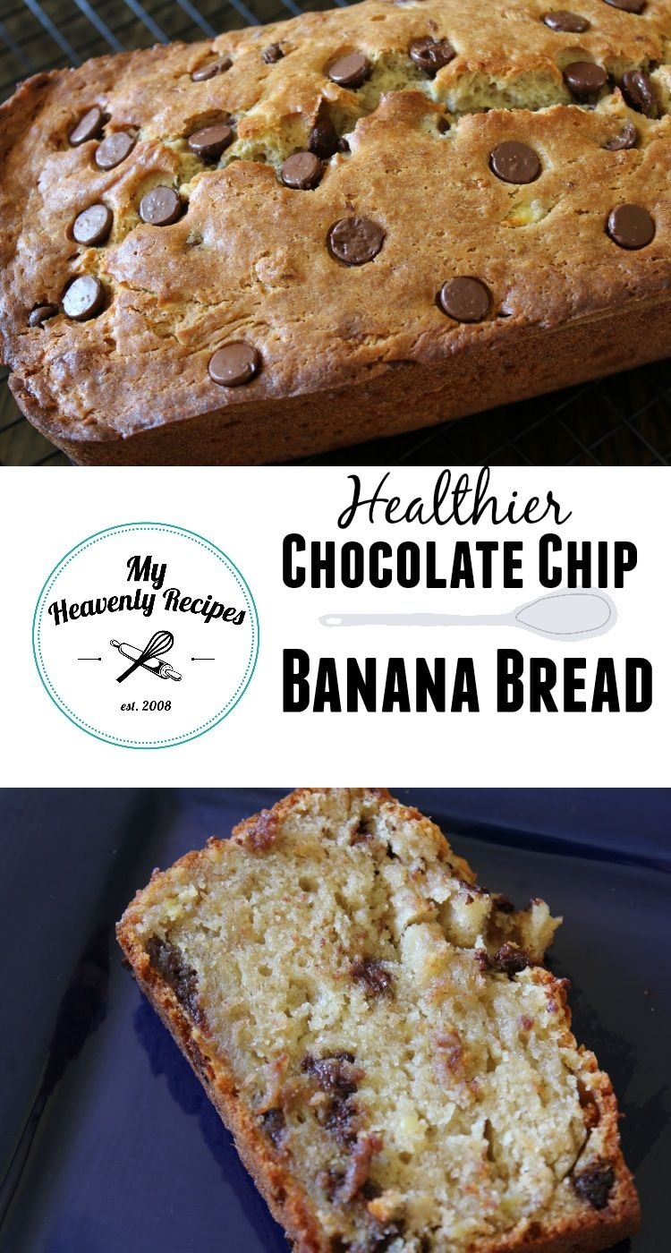 Get Rid Of The Sugar Sour Cream And Cream Cheese In Your Banana Bread Try Chocolate Chip Banana Bread Delicious Banana Bread Recipe Banana Recipes