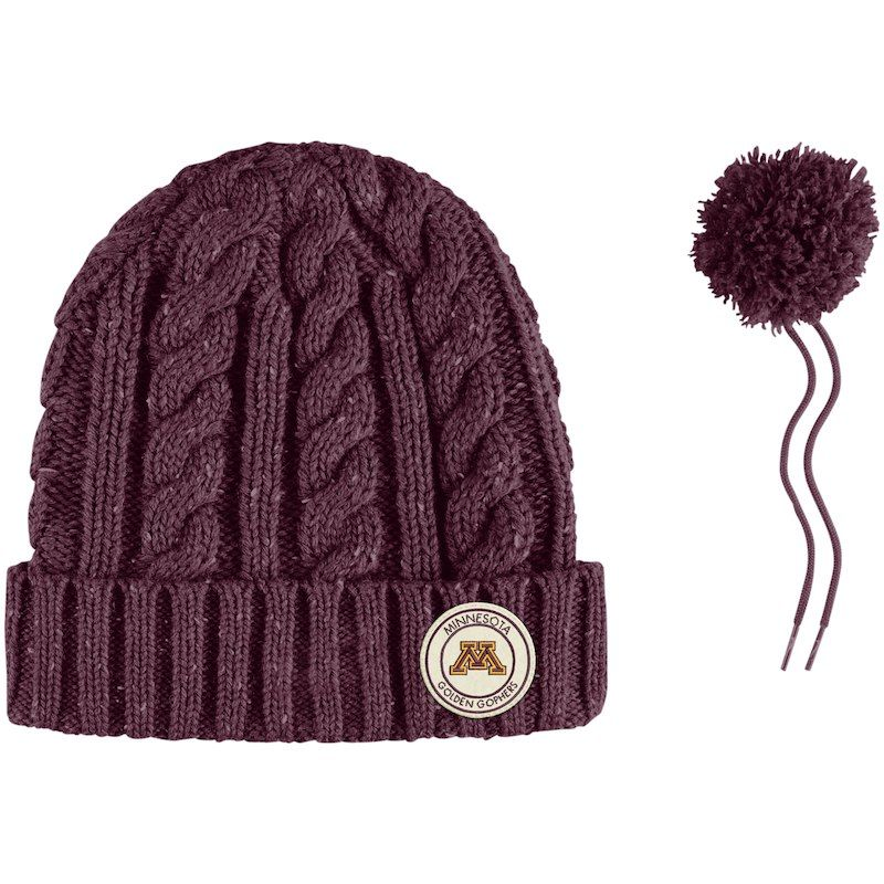 lowest price 0f738 1dc7f Minnesota Golden Gophers Nike Women s Cuffed Knit Hat with Pom - Maroon