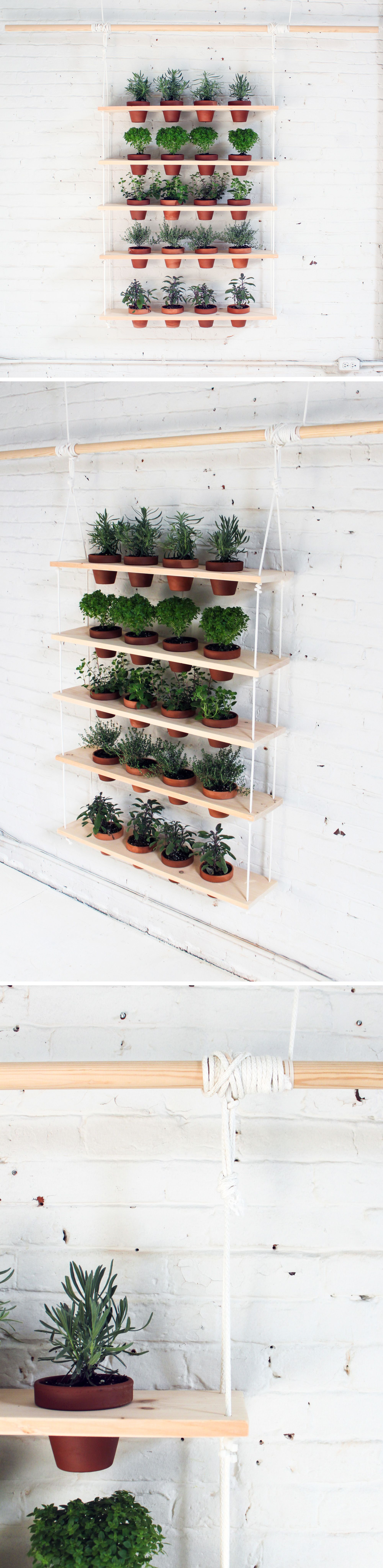 Hanging Indoor Herb Garden Hanging Herb Garden Ideas For Your Home Pinterest Diy