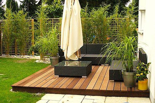 Holzterrasse verlegen gartenterrasse bodenbelag holz außenmöbel ...