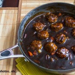 Chicken Meat Balls in Dark Soy