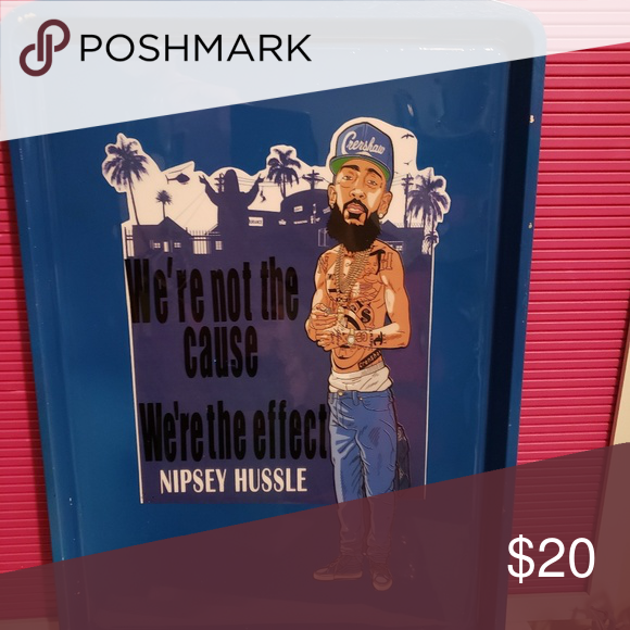 Nipsey Hussle Purple Spade White Tank Top