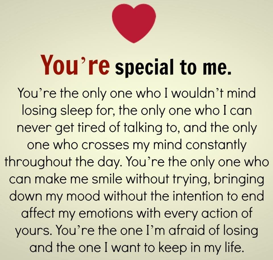 Youre Special To Meand I knew it from the moment