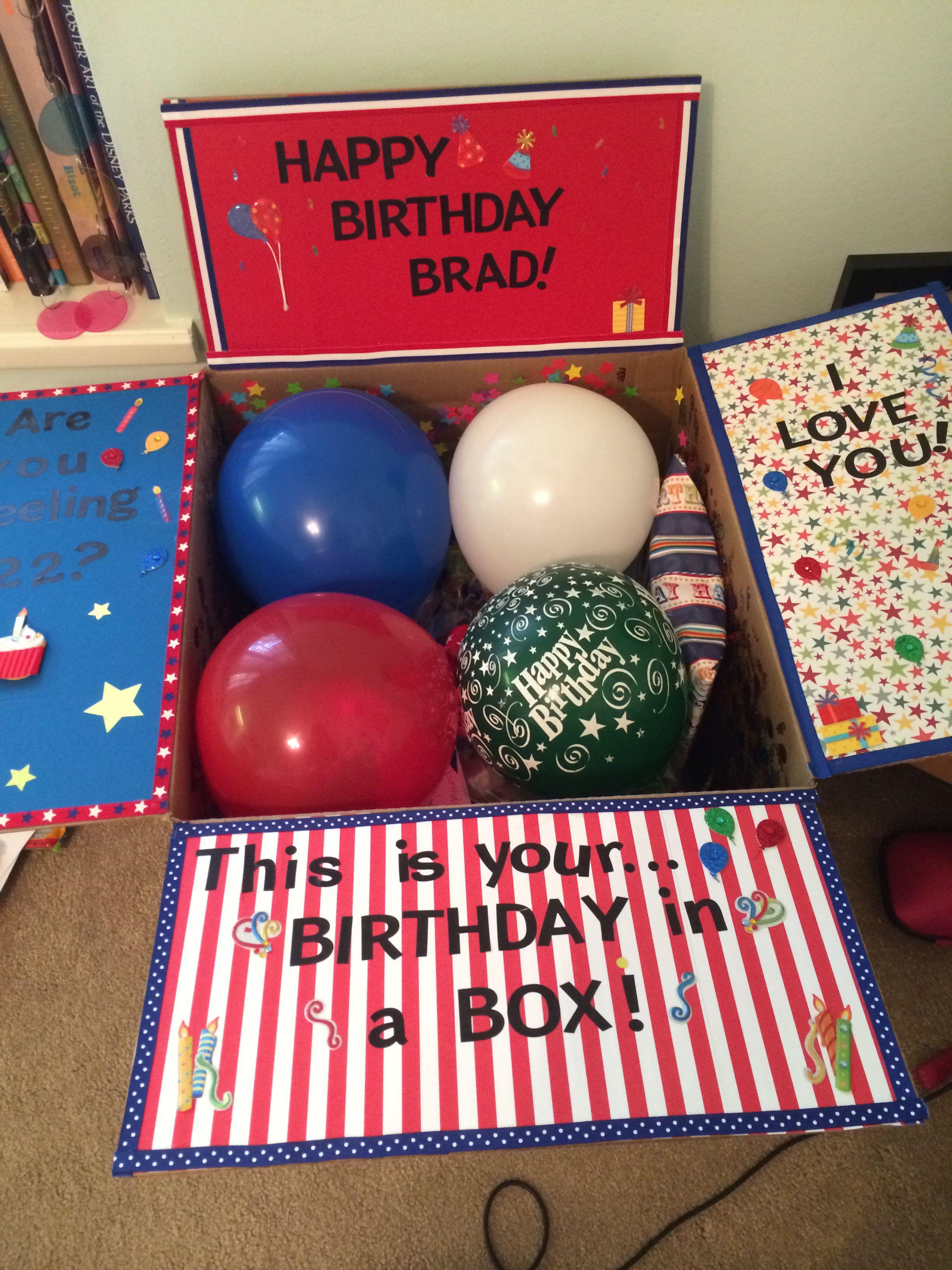 Birthday in a box Homemade birthday gifts, Birthday care
