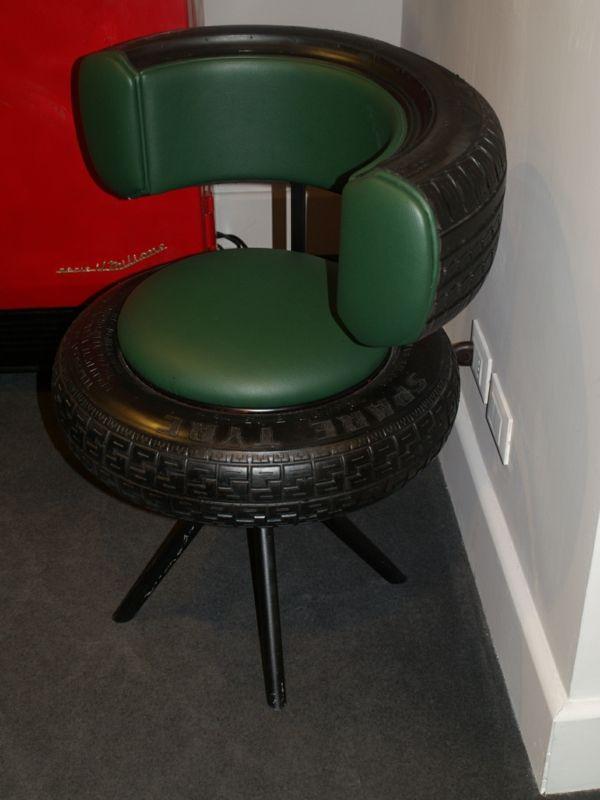 DIY Möbel Polsterung Leder Autoreifen Autoreifen Recycling Stuhl Flur