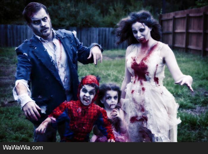 Zombie Family Halloween Pinterest Costume makeup and Halloween - zombie halloween ideas