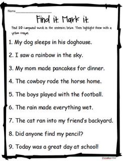 Compound words school readingdaily 5 pinterest language arts compound words ibookread ePUb