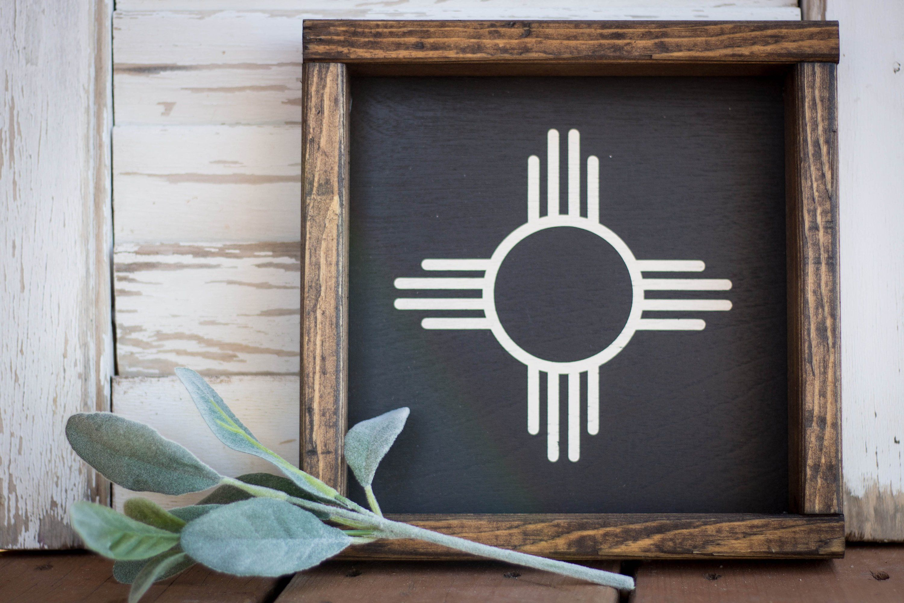 Wood Sign New Mexico Zia 9 X 9 4 Color Options Wooden