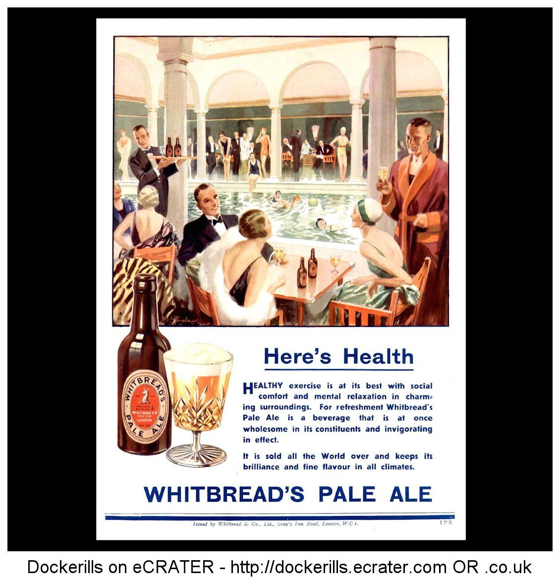 Whitbread S Pale Ale Advert From The Bystander Magazine