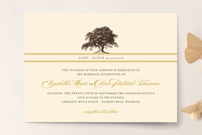 Oak Tree Wedding Invitations By Annie Clark At Minted.com   But Different  Colors; Great Ideas